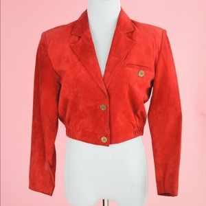 ❤️ Vintage Lord & Taylor Cropped Suede Jacket